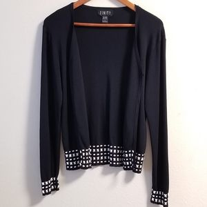 FINITY Embroidered Sweater Cardigan